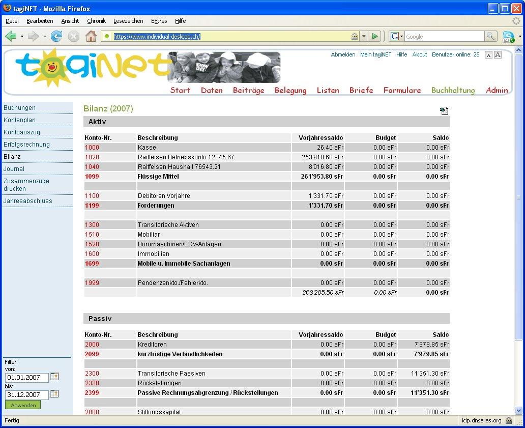 tagiNet Die webbasierte Software für Tagesheime und
